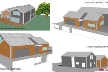 Projekt koncepcyjny domu jednorodzinnego