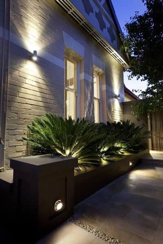 Oświetlenie Elewacji Domu Ona Architekci
